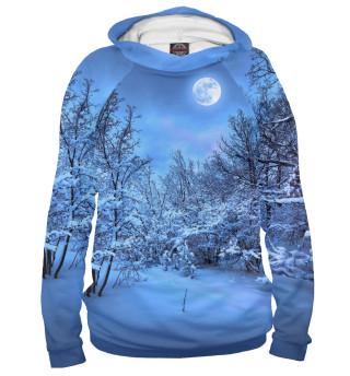 Худи женское Снежный ночь