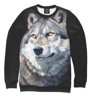 Одежда с принтом Волк Вожак