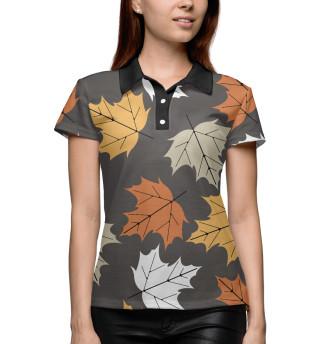 Поло женское Осенние листья