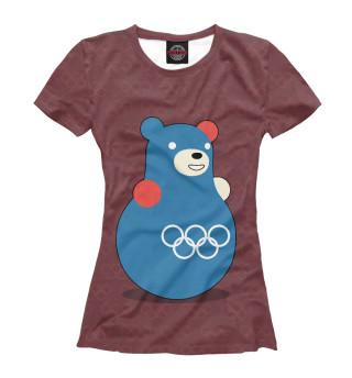 Футболка женская Медведь-неваляшка
