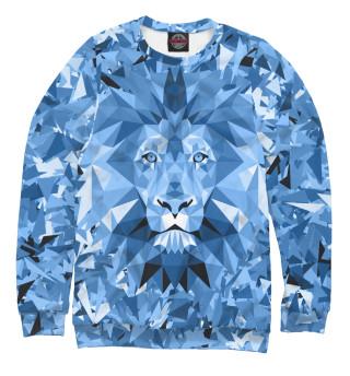 Одежда с принтом Сине-бело-голубой лев