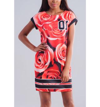 Одежда с принтом Розы (290089)