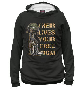 Худи женское Their lives your freedom