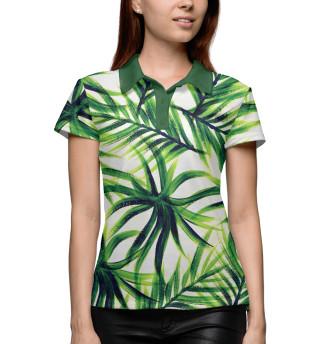 Поло женское Пальмовые листья