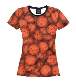 Футболка женская Баскетбольные мячи