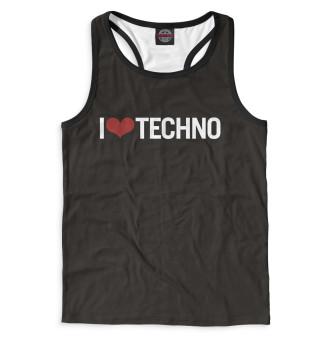 Майка борцовка мужская I Love Techno (8324)