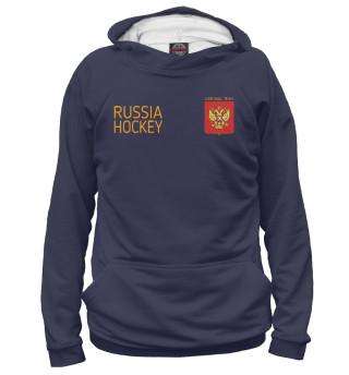 Худи женское Russia hockey