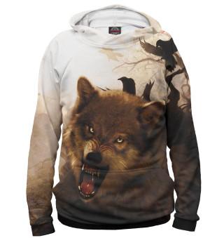 Худи женское Волк (7837)