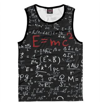 Майка мужская E=mc