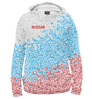 Худи женское Россия. Завитушки