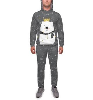 Спортивный костюм  мужской Белый медведь