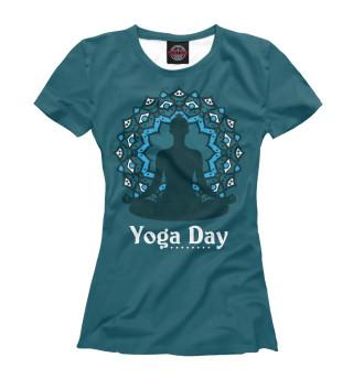 Футболка женская International yoga day