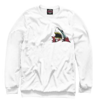 Одежда с принтом Белая акула