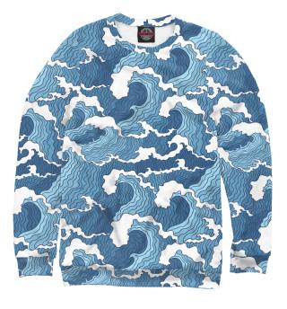 Одежда с принтом Морские волны