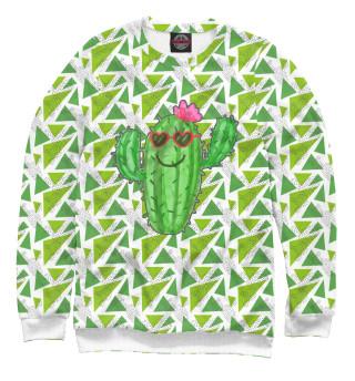 Одежда с принтом Позитивный кактус