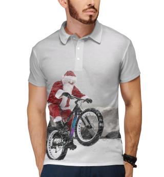 Поло мужское Дед Мороз и его БАЙК