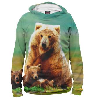 Худи женское Медведица и медвежата