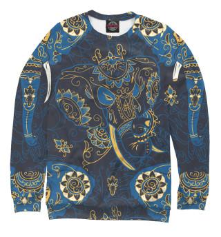 Одежда с принтом Индийские слоны (985679)