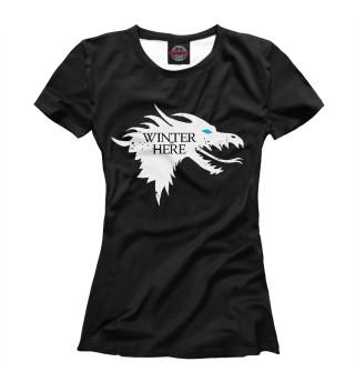 Футболка женская Winter is here (7296)