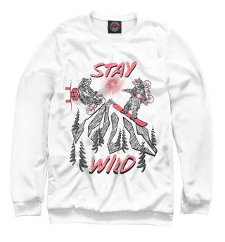 Одежда с принтом Stay wild