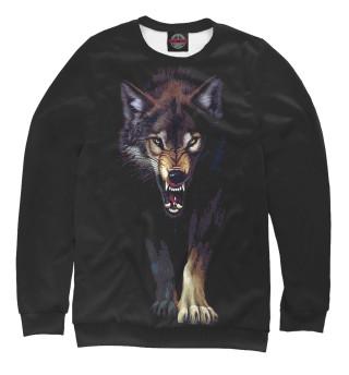 Одежда с принтом Волк. Атака.