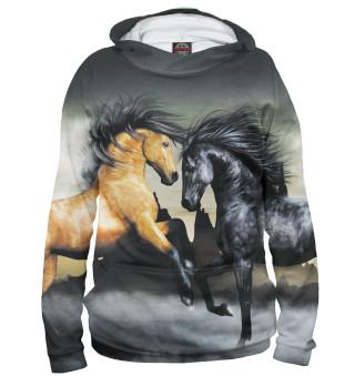 Худи женское Лошади (2425)