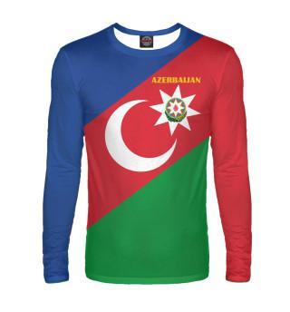 Лонгслив  мужской Azerbaijan - герб и флаг