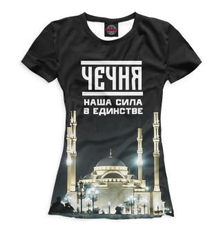 Футболка женская Чечня (7303)
