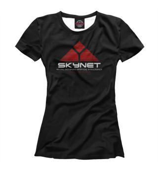 Футболка женская skynet logo dark
