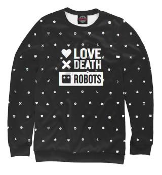 Одежда с принтом Love, Death + Robots logo