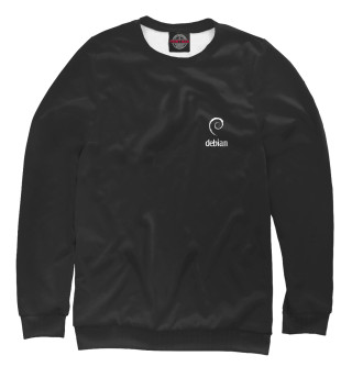 Одежда с принтом Debian Black