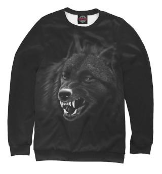 Одежда с принтом Волк.