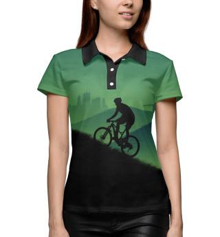 Поло женское Велосипедист MTB