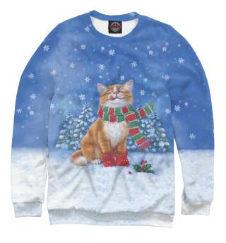 Одежда с принтом Christmas Cat