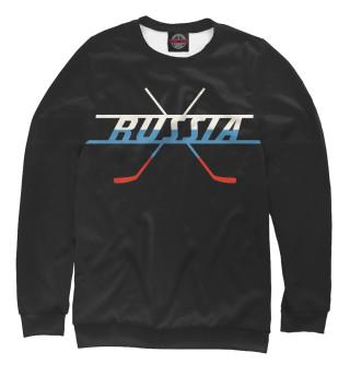 Одежда с принтом Хоккей Россия 2019