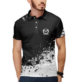 Поло мужское Mazda abstract sport uniform