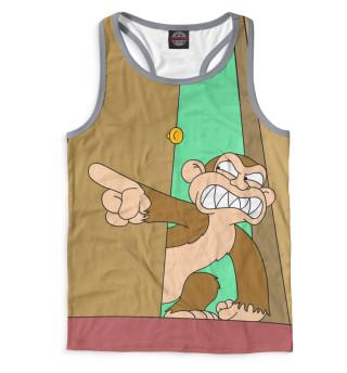 Майка борцовка мужская Злая обезьяна (7551)