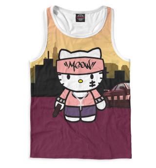 Майка борцовка мужская Hello Kitty (4864)
