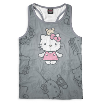 Майка борцовка мужская Hello Kitty (1077)