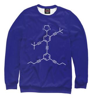 Одежда с принтом Химия Нанопуты Синий фон