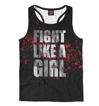 Майка борцовка мужская Fight like a Girl (3618)