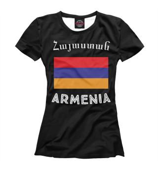 Футболка женская Армения (7015)