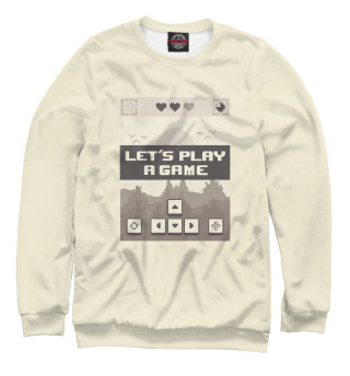 Одежда с принтом Let's play a game