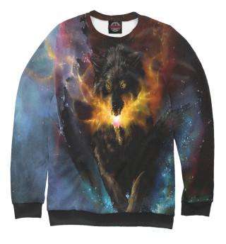 Одежда с принтом Космический Волк (976475)
