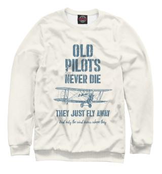 Одежда с принтом Старые пилоты не умирают