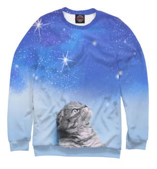 Одежда с принтом Кот и космос