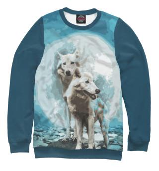 Одежда с принтом Белые Волки (565931)