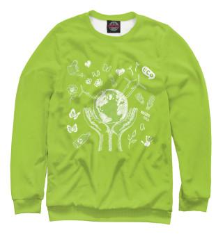 Одежда с принтом Зеленая планета