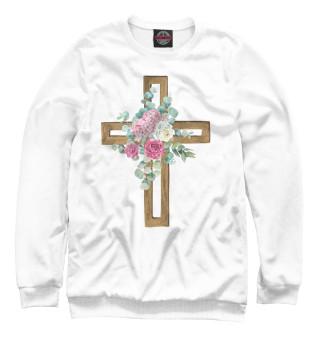 Одежда с принтом Крест в цветах