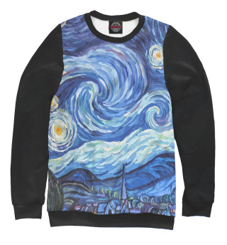 Одежда с принтом Звездная ночь Вангог